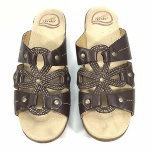 Dansko Leather Clog Sandals